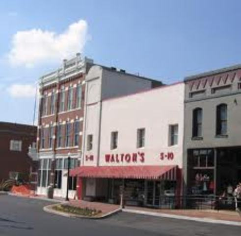Walton buys his fist store