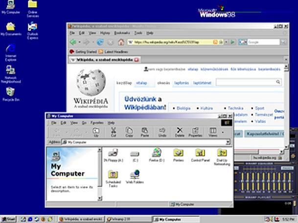 WINDOWS 98 REEMPLAZA A WINDOWS 95