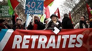 SOCIAL - MANIFESTATION CONTRE LES RÉFORMES DES RETRAITES