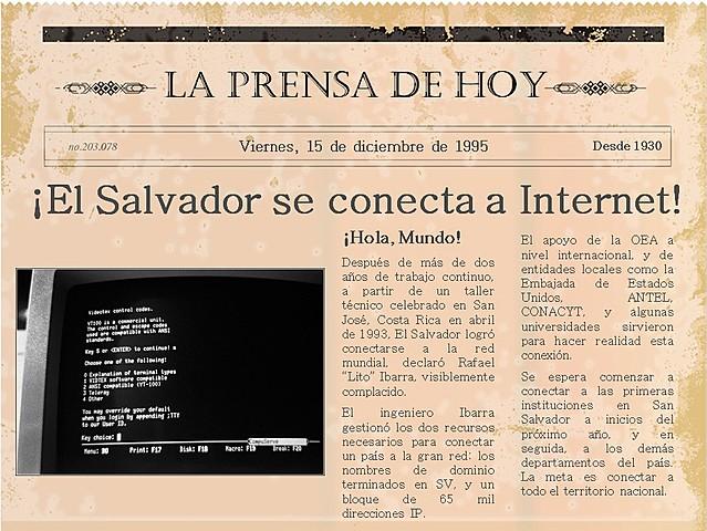 CONEXION EN INTERNET EN EL SALVADOR