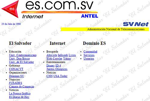 SITIO WEB EN EL SALVADOR