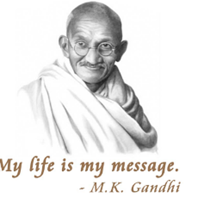 Biography Mahatma Gandhi timeline