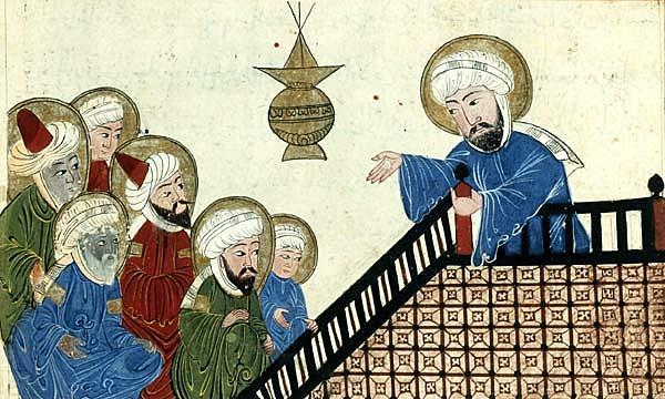 Muhammad preaches