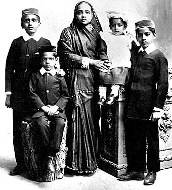 Gandhi's family transfer to South Africa