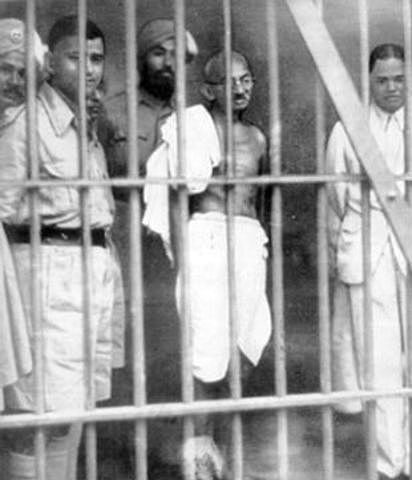 mahatma gandhi was convicted