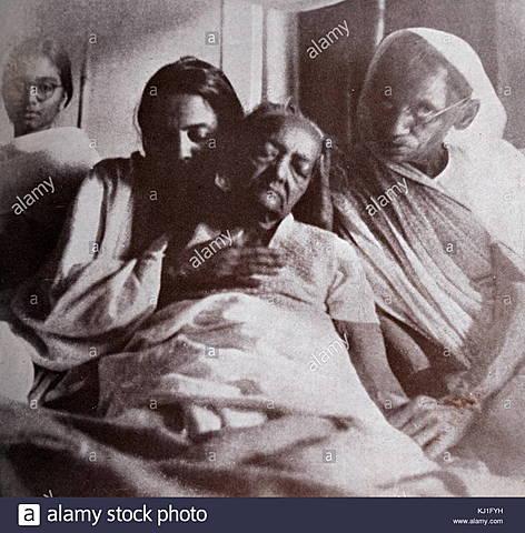 death of mahatma gandhi's wife