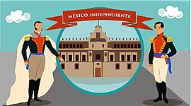 Ubicación temporal y espacial de los procesos del México independiente en la primera mitad del siglo XIX timeline