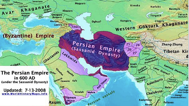 Arab invasion and destruction of Sassanian Empire