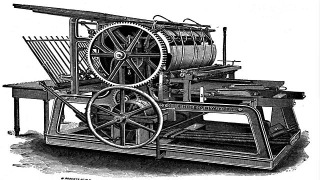 Gutenberg inventa la imprenta,que permite la difusión masiva de textos impresos por primera vez en la historia.