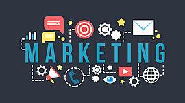 Etapas de desarrollo del pensamiento marketing. timeline