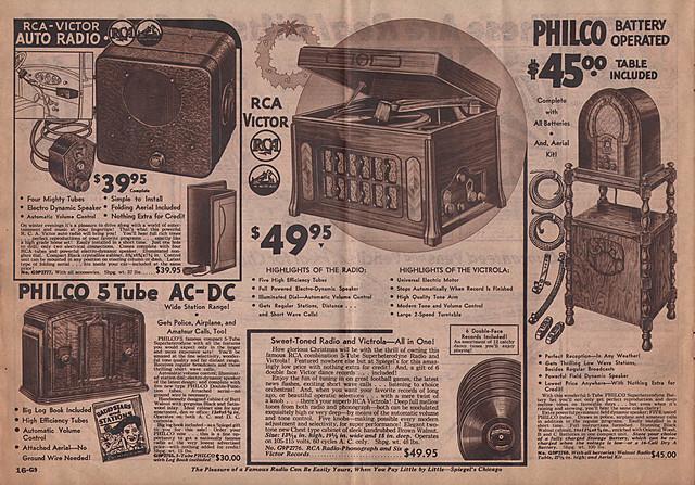 Receptores de radio.