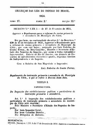 Decreto Couto Ferraz