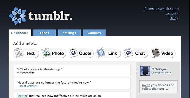 Redes sociales: Tumblr