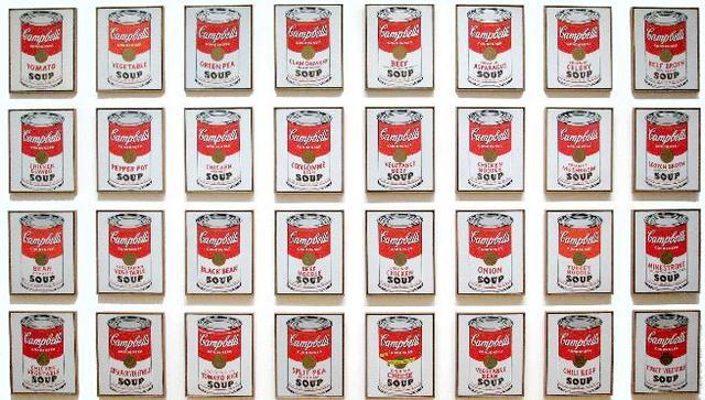 Campbells soup cans 1962