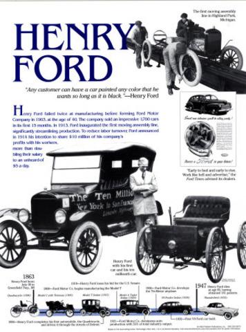 Henry Ford introduce una mejoria en metodos