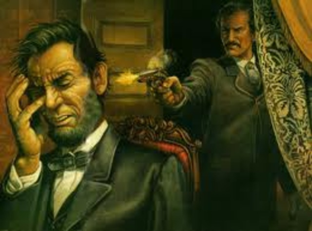 Abraham Lincoln is murdered