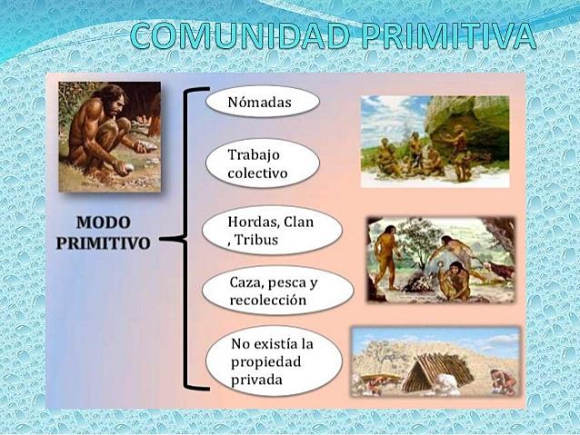 Características de la Comunidad Primitiva