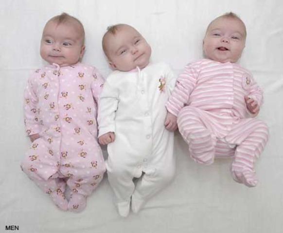 Liz conceives triplets