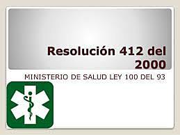 2000 Resolución 0412