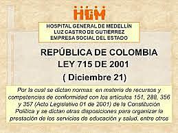 2001 Ley 715 del 21 de diciembre