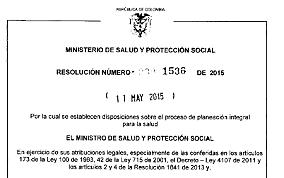2015 Resolución 1536 mayo 11