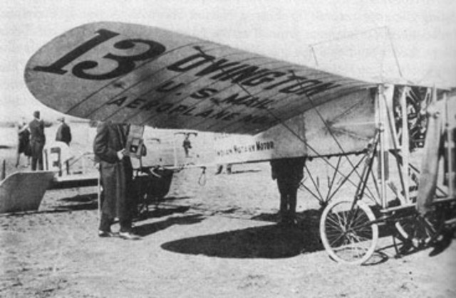 The first offically aproved by the us postal department Air mail service.