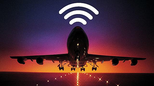 Internet haut débit dans les avions