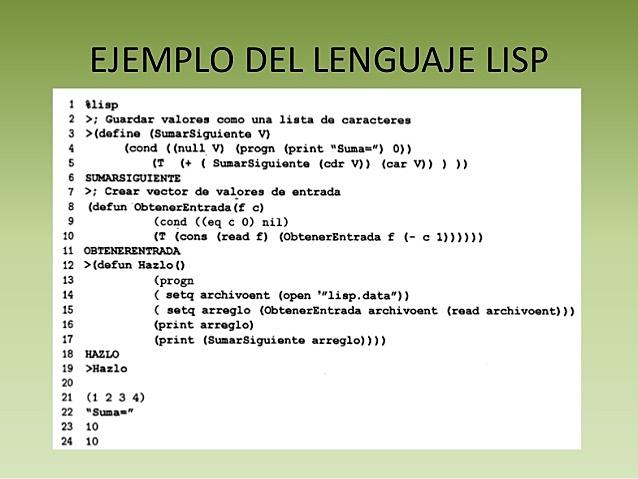 Lenguaje lisp