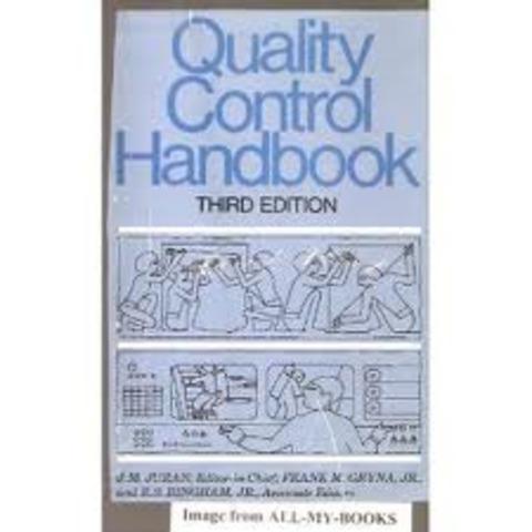 Publicación de Quality control Handbook