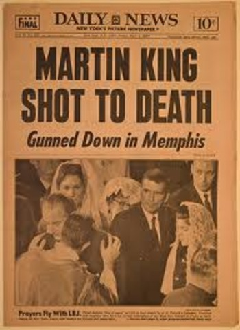 Martin Luther King Jr. assasinated