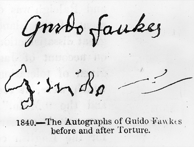 Guy Fawkes confesses