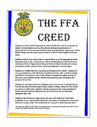 FFA Creed Is Adopted