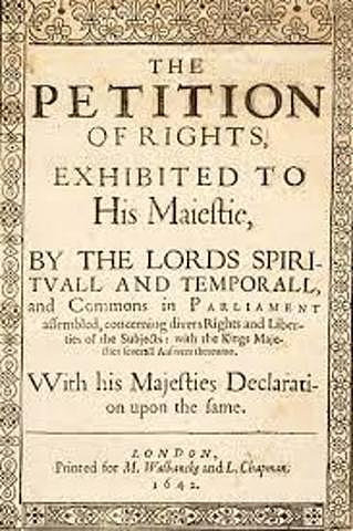 King Charles is required to sign the Petition of Rights