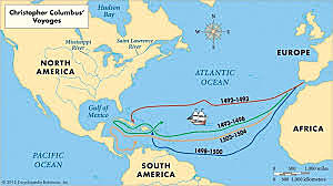 Christopher Columbus: sailed for Spain