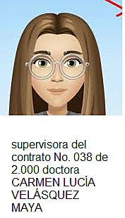 NOMBRAMIENTO DE SUPERVISORA DEL CONTRATO