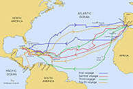 Christopher Columbus and the Atlantic Ocean and America