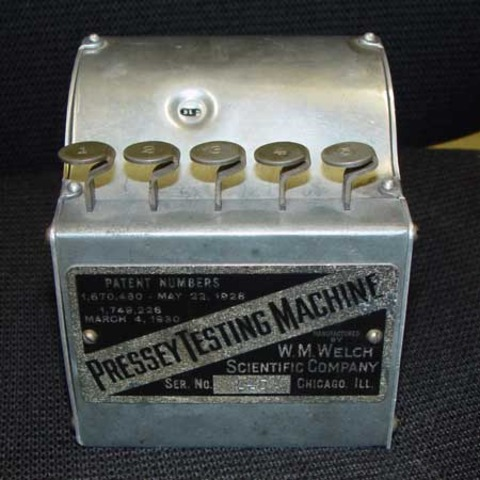 Pressey's Teaching Machine