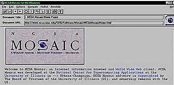 Mosaic 1e Navigateur du web
