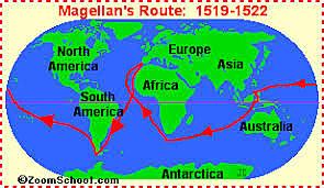 Ferdinand Magellan: A Portuguese explorer who was sailing for Spain.