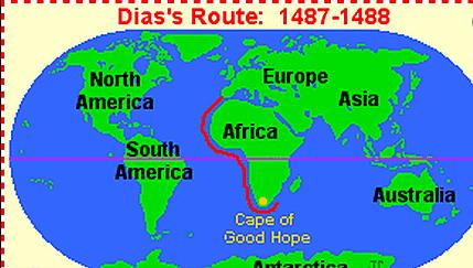 Bartolomeu Dias Sailed for Portugal in 1488