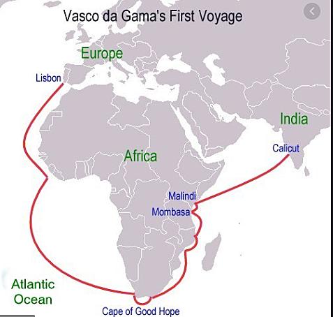 Vasco de Gama sailed for Portugal in 1497