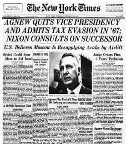Agnew Resigns