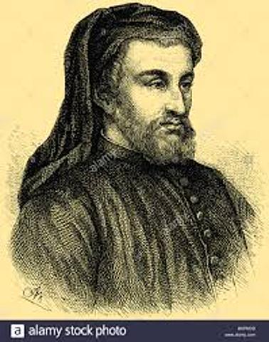 1367-1400 Geoffrey Chaucer at court
