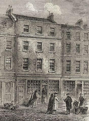 London bookshop of Thomas Davies