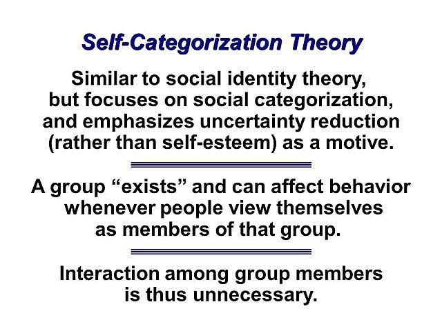 Self Categorization Theory - Turner