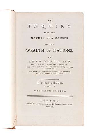 "Adam Smith writes ""The Wealth of Nations"""