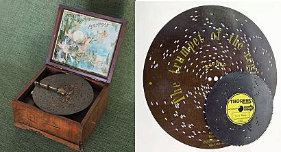 Las cajas de música se fabrican para reproducir melodías simples de discos de cajas de música.