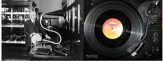 Emile Berliner patenta un sistema de grabación de sonido basado en discos planos, ranuras en espiral y materiales especiales