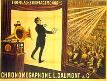 La primera película sonora (un vídeo con sonido sincronizado) se estrena en París.