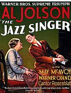 """El primer largometraje sonoro (también conocido como """"talkie""""), el Cantante de Jazz, se lanza. Después de un gran éxito, el sonido en el cine se convierte en un estándar en el negocio del cine."""